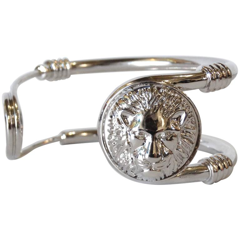 Versus Versace Lion Safety Pin Cuff Bracelet