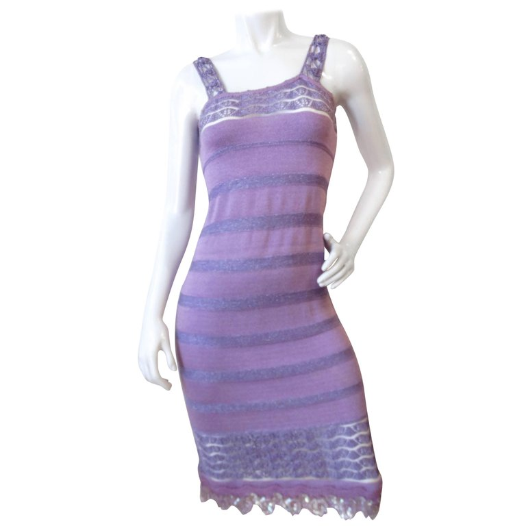 Bazaar Christian LaCroix Lavander Knit Dress