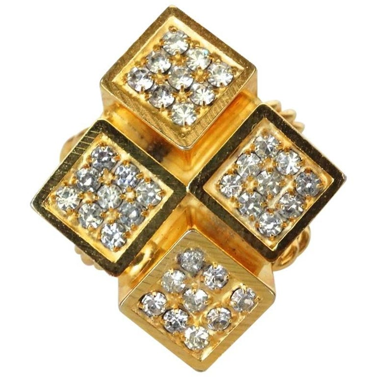 William De Lillo Gold Geometric Ring
