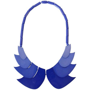 1970s Guillemette L'Hoir Paris Galalith Collar Necklace
