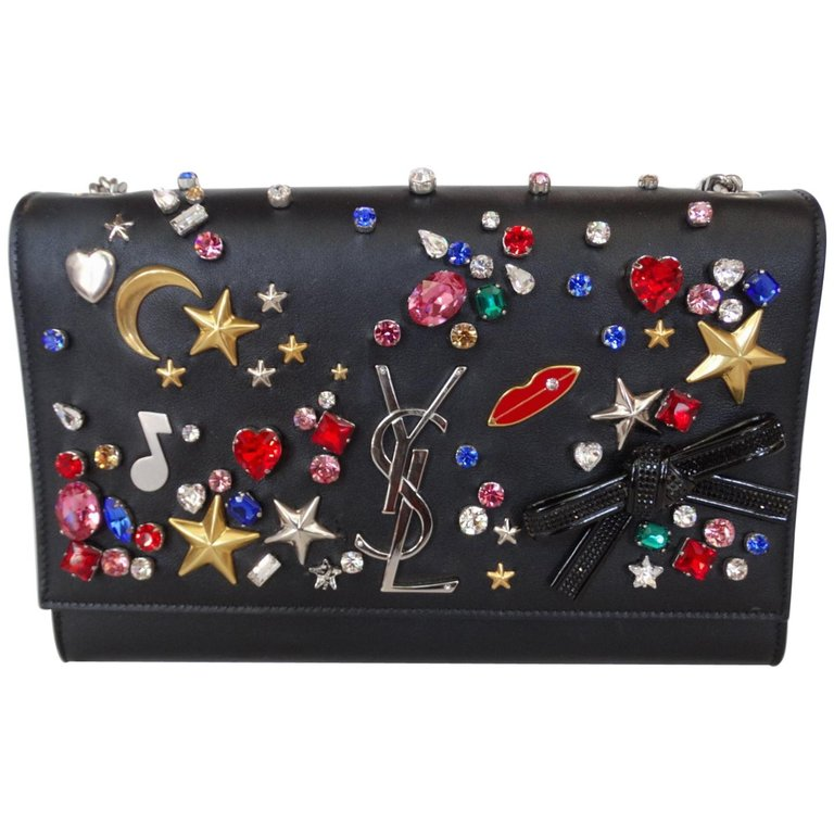 Saint Laurent F/W 16 Embellished Crossbody Clutch