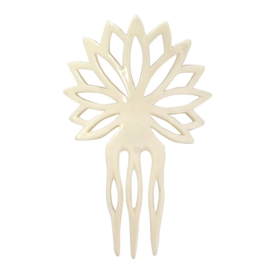 1970s Yves Saint Laurent Hand Carved Hair Comb