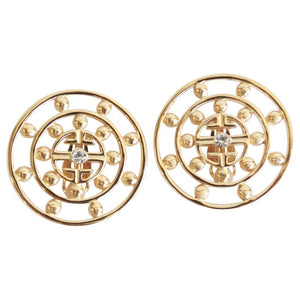 Givenchy Clip On Medallion Earrings