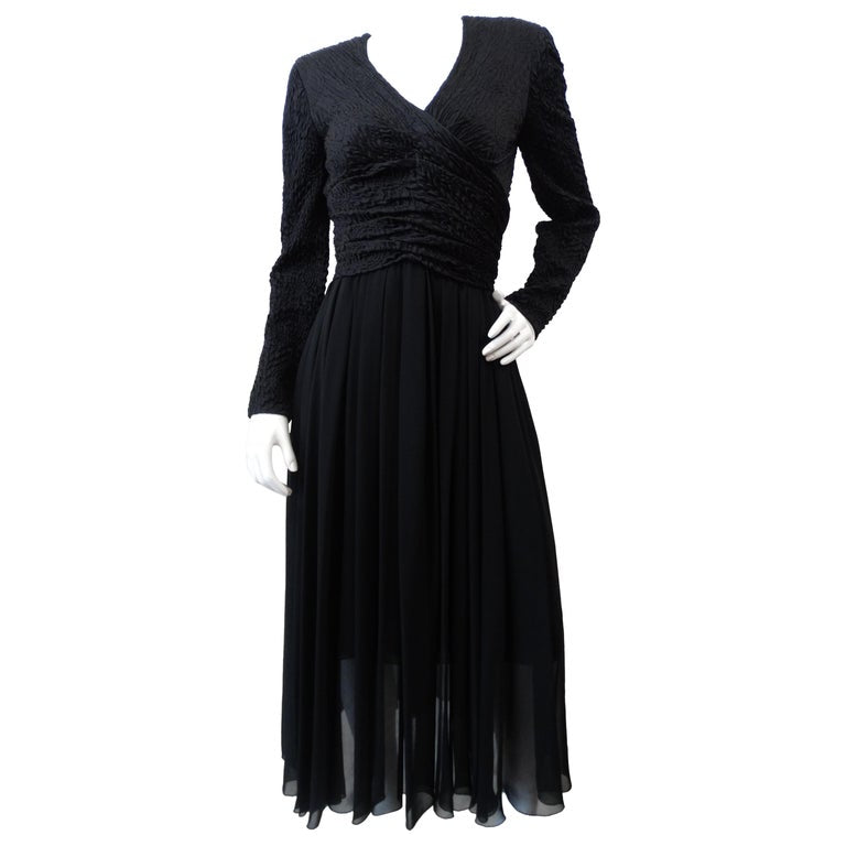 Chanel Boutique Black Evening Dress