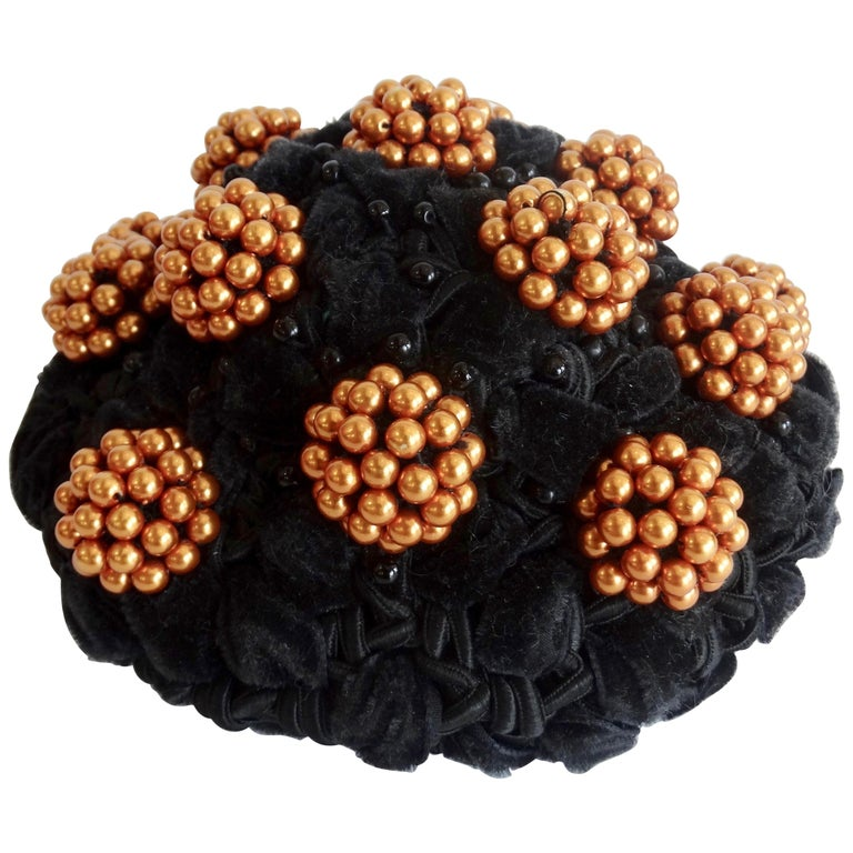 Rare Isabel Canovas Beaded Cluster Bun Cover