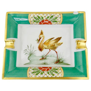 Hermés Exotic Bird Porcelain Tray