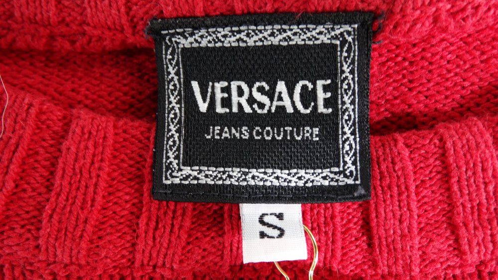 Gianni Versace Medusa Red Sweater