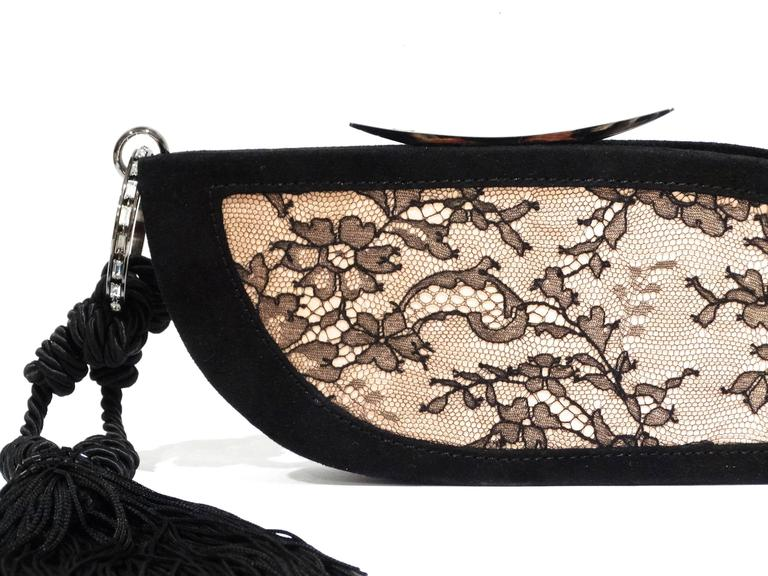 Vintage Escada Lace Clutch with Tassel