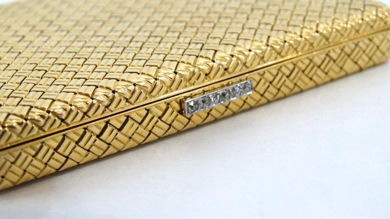 Rare 1950s Van Cleef & Arpels 18k Gold & White Diamond Case