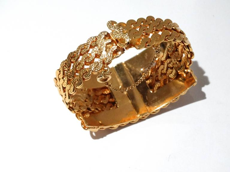 1970s William de Lillo Rope Plate Bracelet