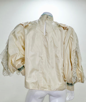 Eavis & Brown Embellished Victorian Silk Blouse