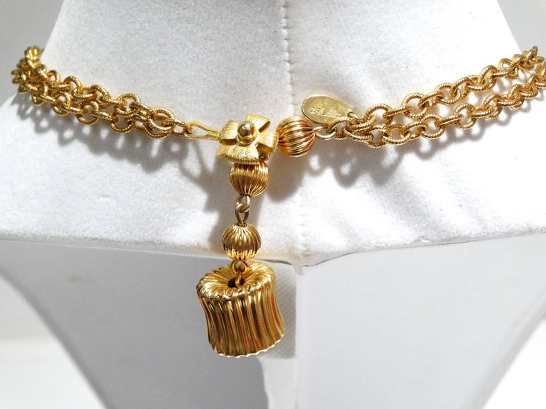 1970s William de Lillo 3 Strand Pendent Necklace