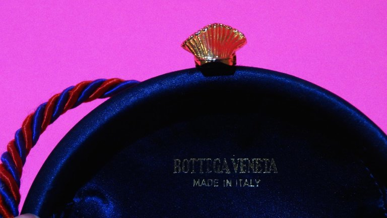 Bottega Veneta Rainbow Gingham Circle Tassel Bag