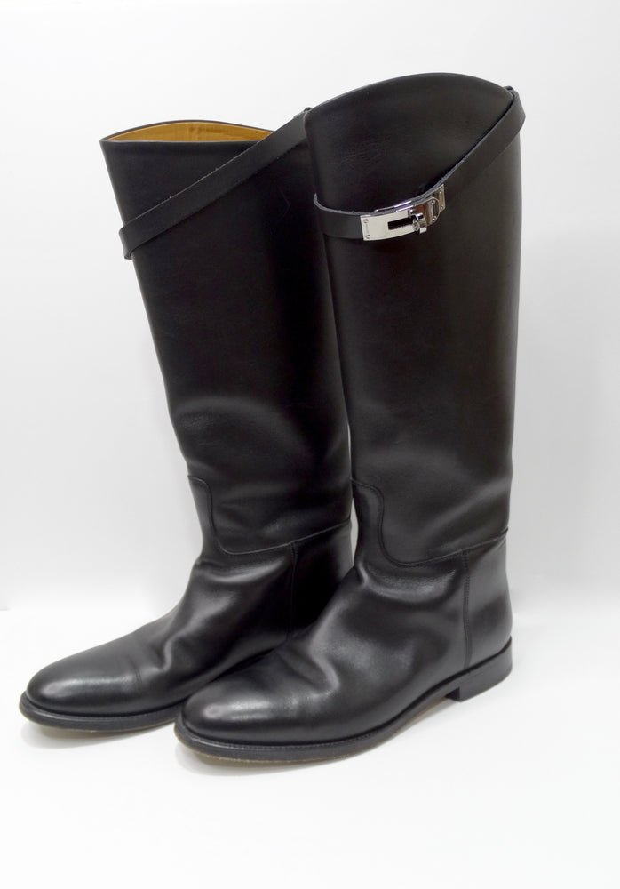 Hermés Box Leather Jumping Boot