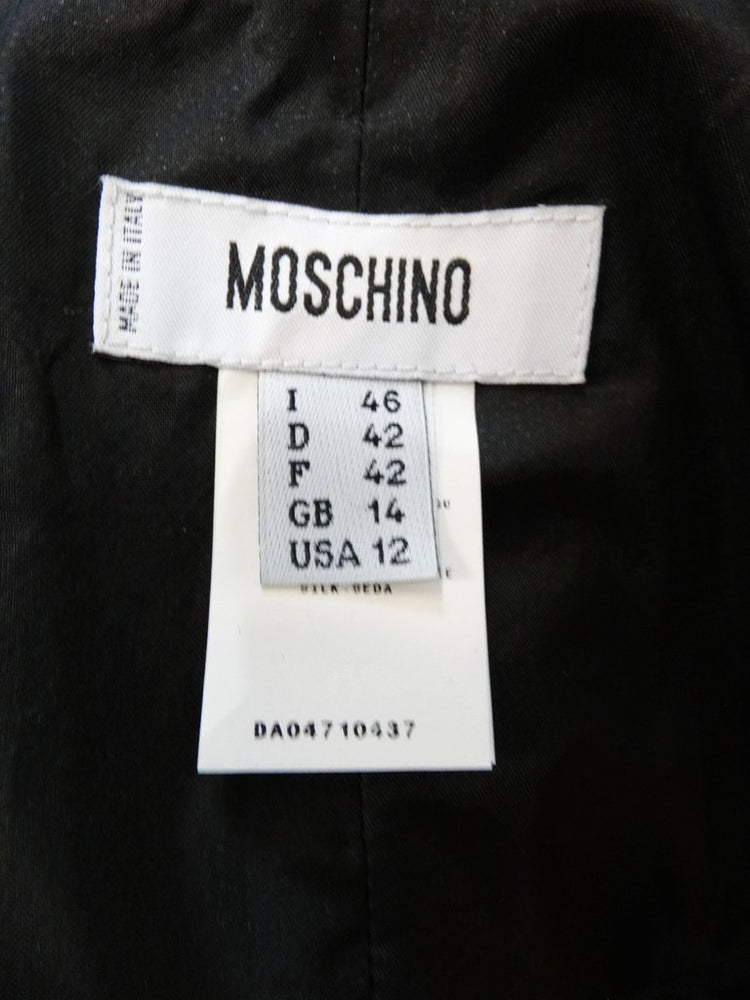 Moschino Pin-Tuck Gown With Built-in Shawl