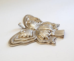 1980s Butterfly Silver Whistle Pendant