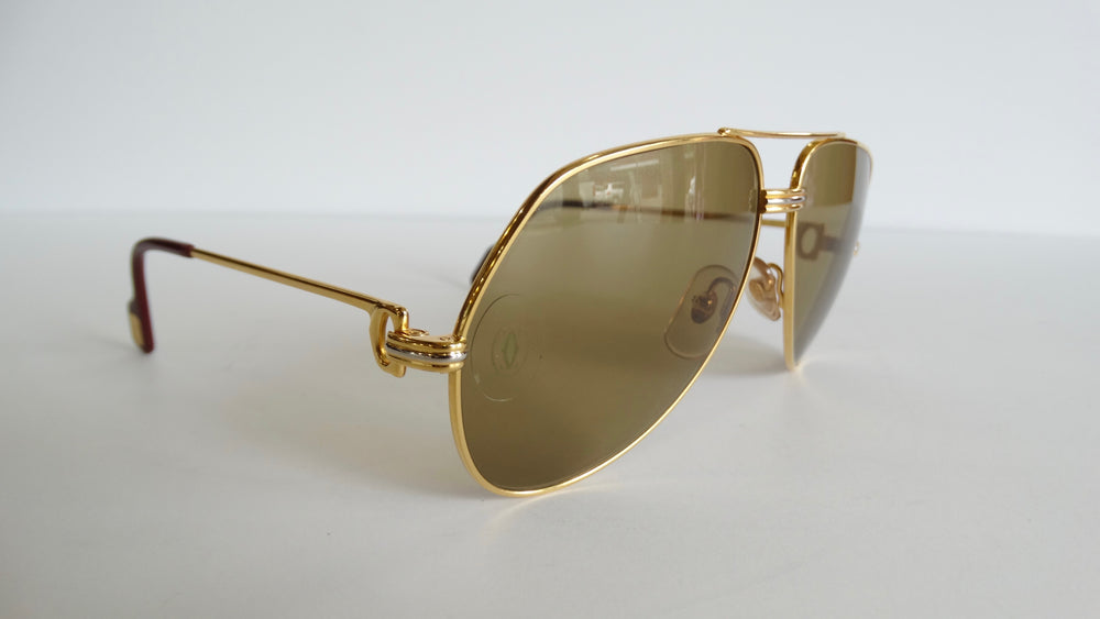1980s/1990s Cartier Vendome Louis Aviator Sunglasses