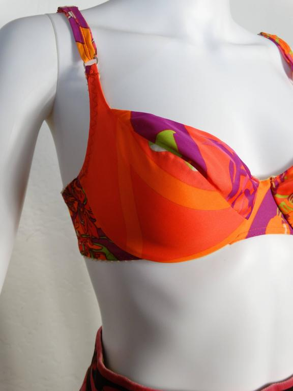 1960s Emilio Pucci Neon Soft Bra for Formfit Rogers