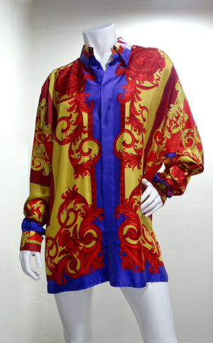 Gianni Versace Greek Goddess Print Shirt