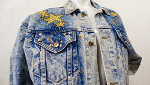 "Tony Alamo ""Hollywood"" Rhinestone Embellished Jean Jacket"