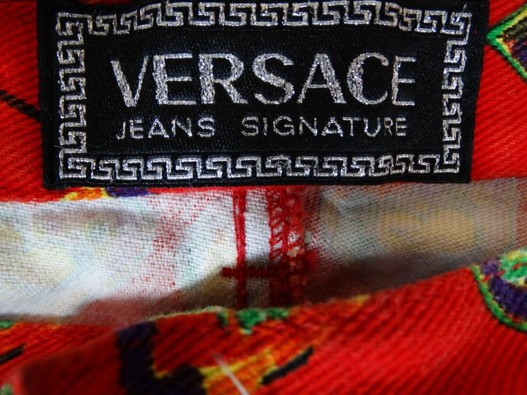 1997 Versace Jeans Heart Printed Pants