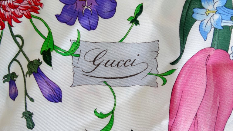 Gucci V. Accornero Flora Silk Scarf
