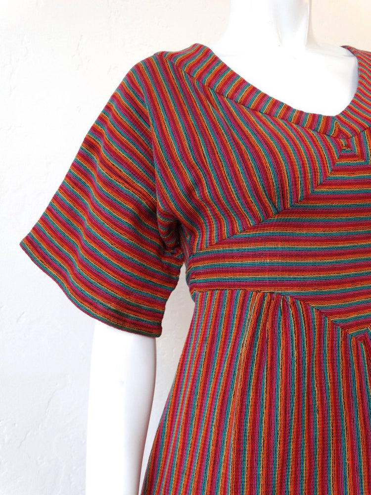 1970s Rikma Rainbow Stripe Dress