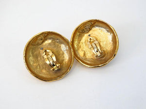 1970s Yves Saint Laurent Raw Quartz Clip Earrings
