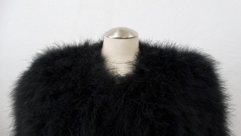 Sonia Rykiel Black Marabou Feather Coat