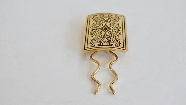 Isabel Canovas Baroque Motif Hair Pin