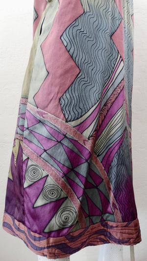 Luanne Rimel Abstract Motif Silk Duster