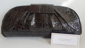 Nancy Gonzalez Genuine Crocodile Clutch