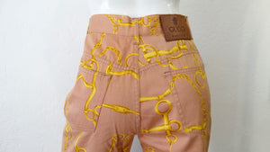 Gucci Horse Bit High Waisted Coral Jeans