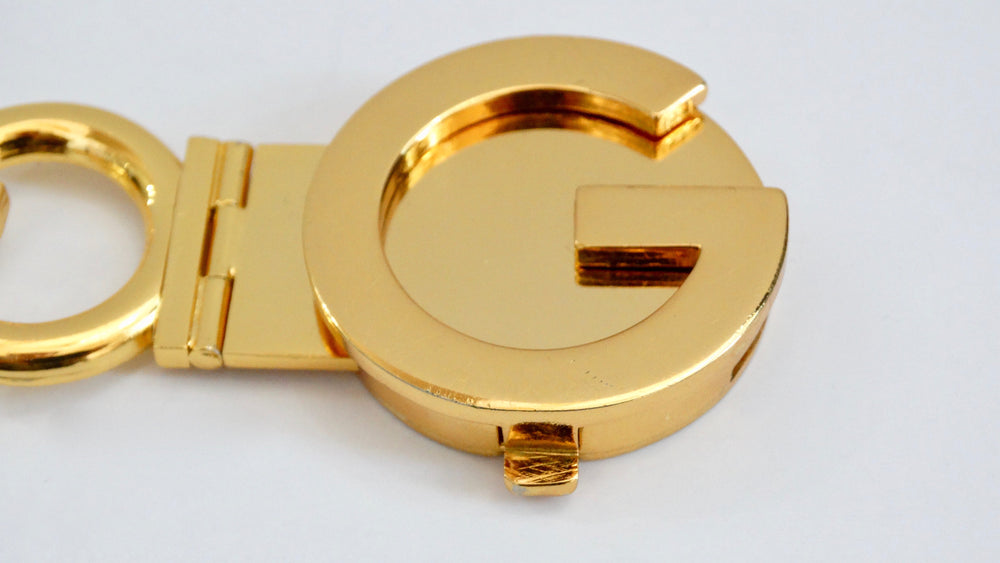 Gucci Gold Logo Chain Belt