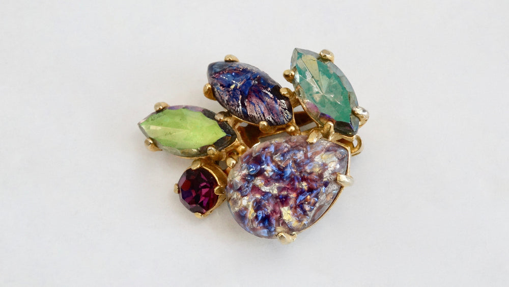 Schiaparelli Assorted Crystal Clip-On Earrings