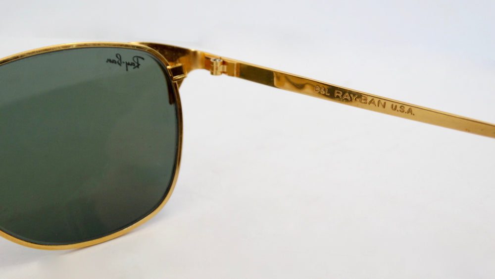 Ray Ban Signet Gold Frame Sunglasses