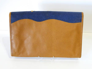 1980s CARLOS FALCHI Leather Snake Clutch