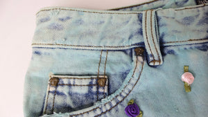 Versace Jeans Couture Denim Shorts with Rosettes