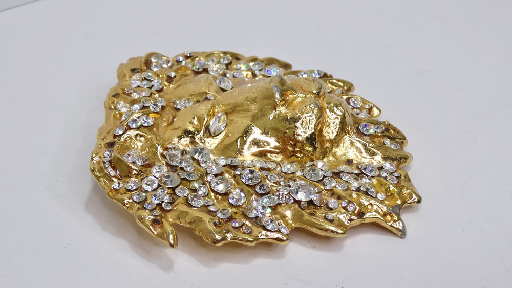 Gucci 18k Gold Glass Filled Butterfly Ring