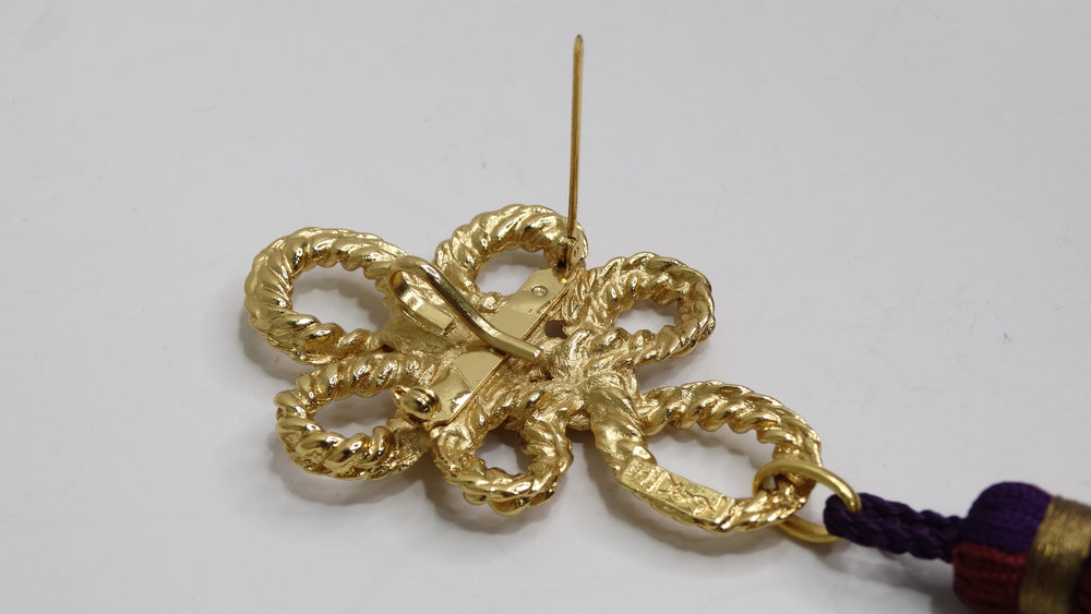 Fendi Red Monogram Leather Clutch