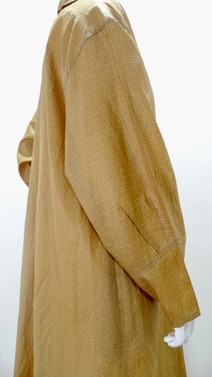 Fendi 1980s Monogram Camel Trench Coat