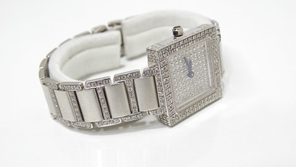Diamond 18k White Gold Wrist Watch