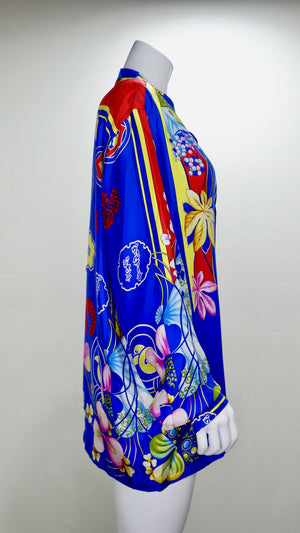 Gianni Versace 1990s Japanese Inspired Shirt