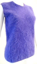1990s Gianni Versace Couture Purple Angora Sweater Vest