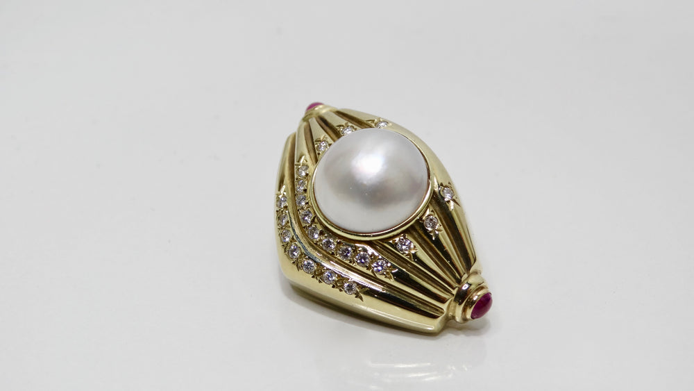 Pearl & Diamond French Clip Earrings