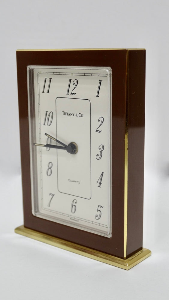 Tiffany & Co. Brass Desk Clock