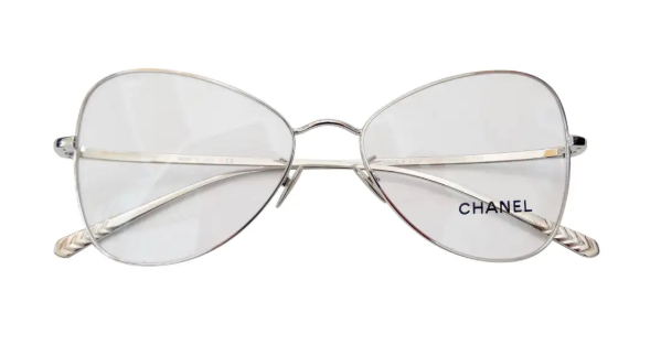 Chanel 2019 Silver Eye Glasses