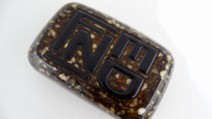 Fendi Hard Case Logo Clutch