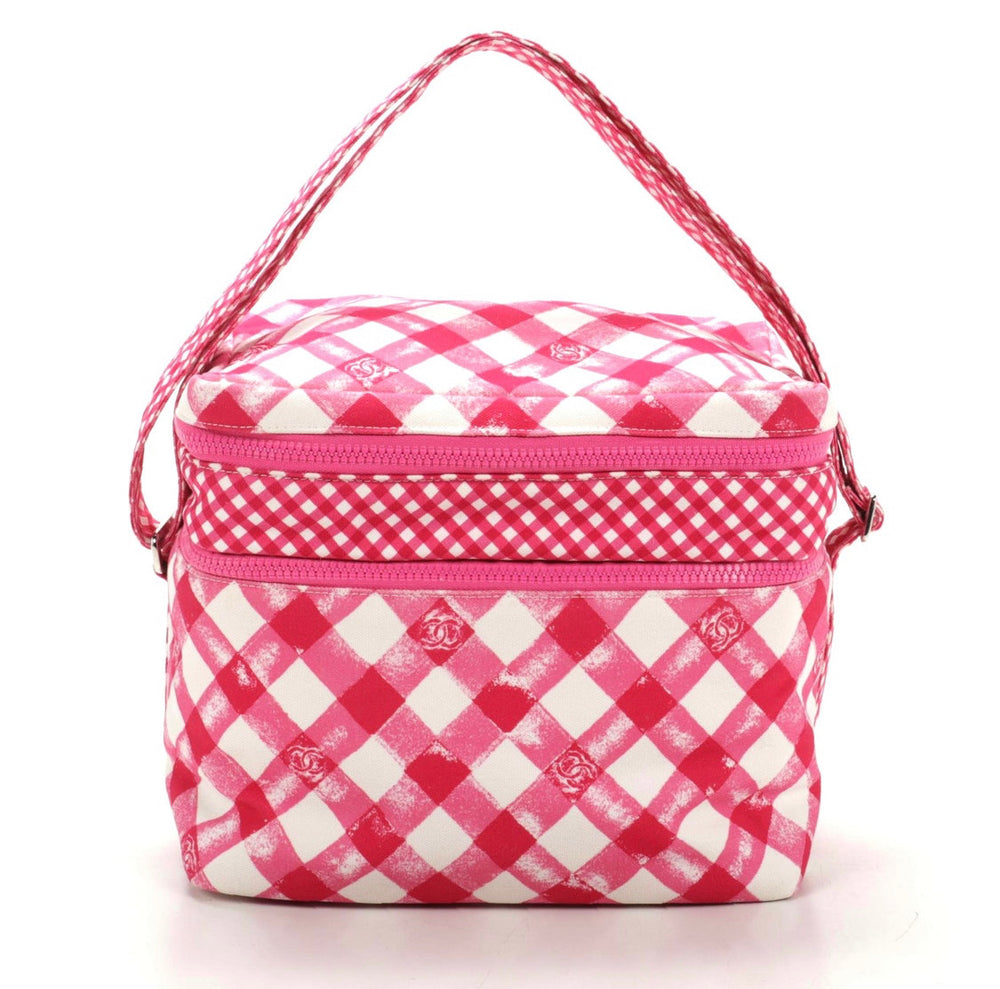 Chanel Pink Gingham Lunch Box Bag
