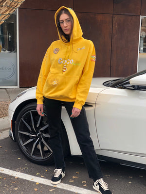 Chanel x Pharrell 2019 Appliqué Sunflower Yellow Hoodie Sweatshirt